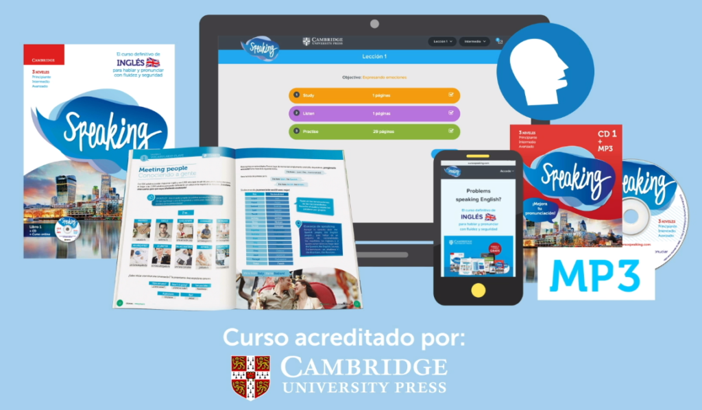 curso inglés publicado por el país y acreditado por Cambridge University Press.